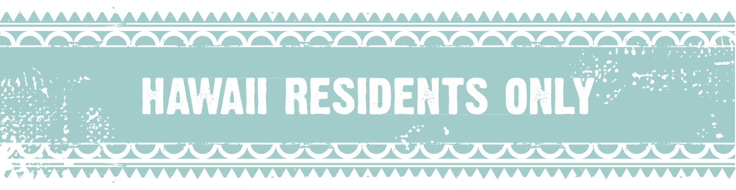 hawaii only banner
