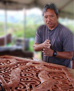 photo of Kawika Eskeran at the Polynesian Cultural Center