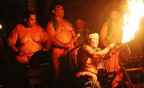 Viceson Galea'i at the Polynesian Cultural Center