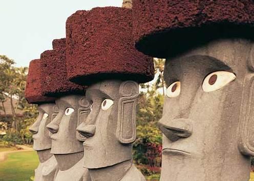 Moai closeup