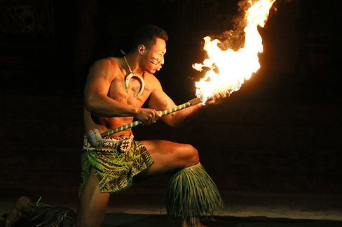 Falaniko Penesa at the Polynesian Cultural Center