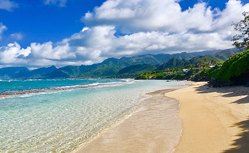 Laie Beach (photo by Daniela Power, courtesy of HRI)