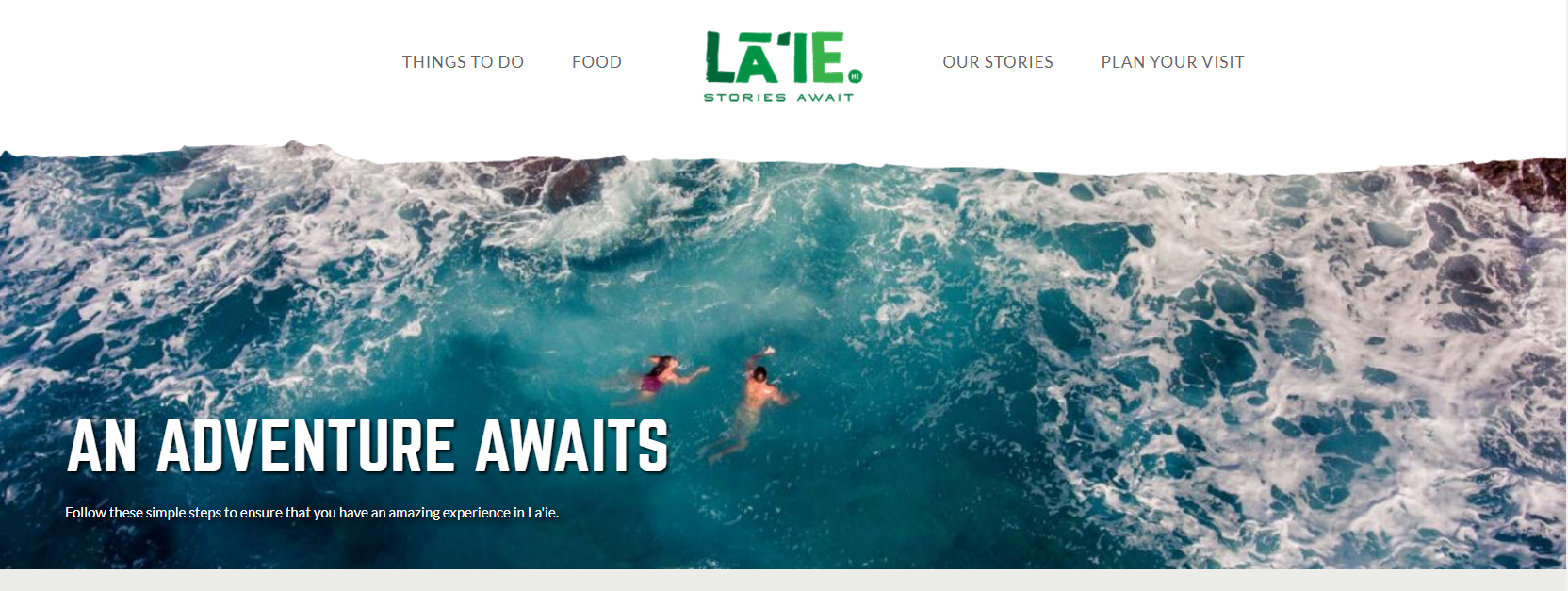 Screenshot of visitlaie.com