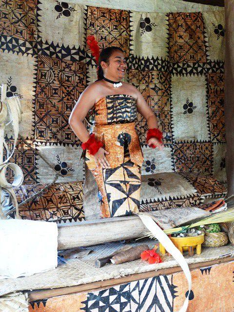 Photo of Tongan tapa at the Polynesian Cultural Center