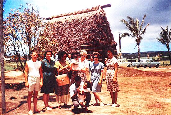 Polynesian Cultural Center Fijian Village, summer 1963