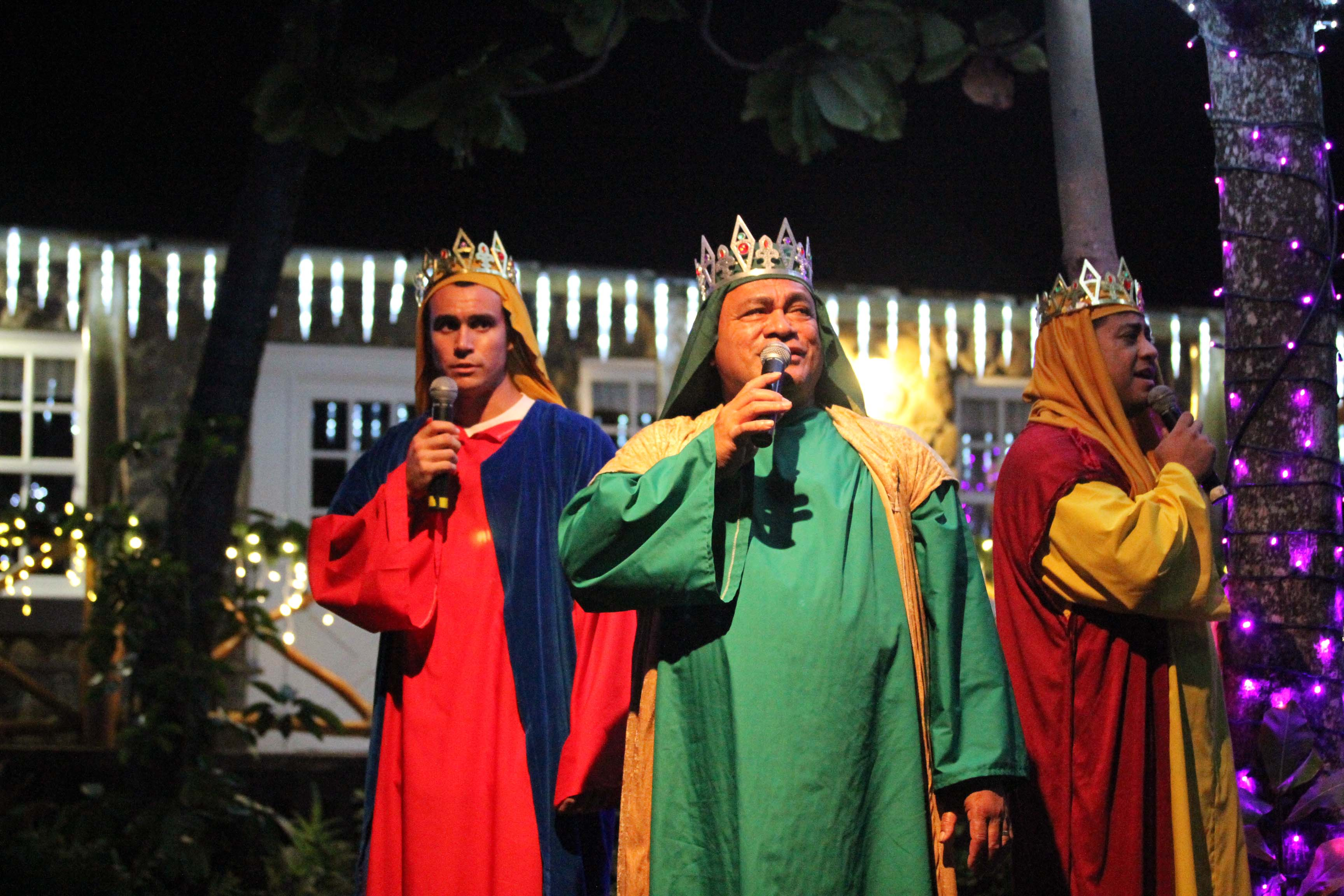 Photo of live nativity at The Polynesian Cultural Center