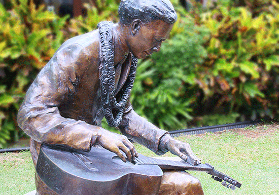 Steel guitar originates and lives on in beautiful Laie, Oahu