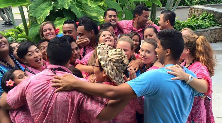 Picture of guides at the Polynesian Cultural Center