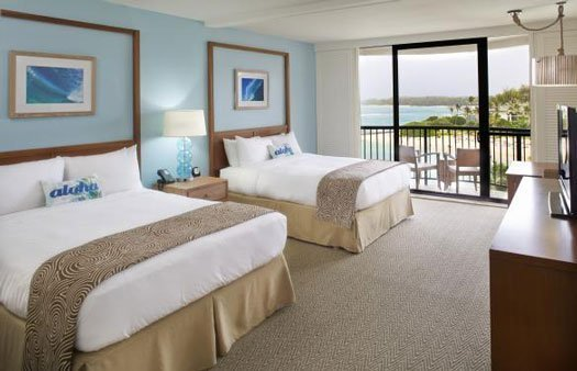 photo of a room at Turtle Bay Resort on the northeast corner of Oahu
