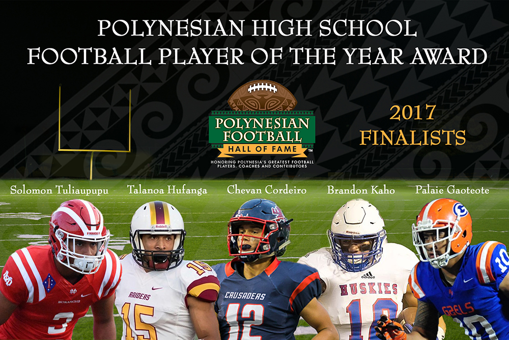 Picture of 2017 Polynesian High School Football Player Finalists