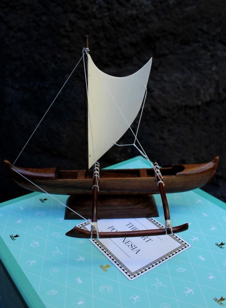 replica of Polynesian sailing canoe available form www.shop.polynesia.com