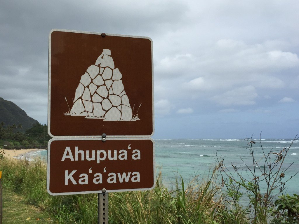 Photo of Ahupuaa Kaaawa sign