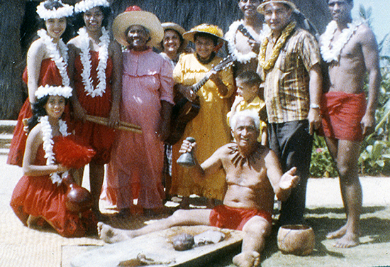 Hawaiian Villagers from the Polynesian Cultural Center in 1960s