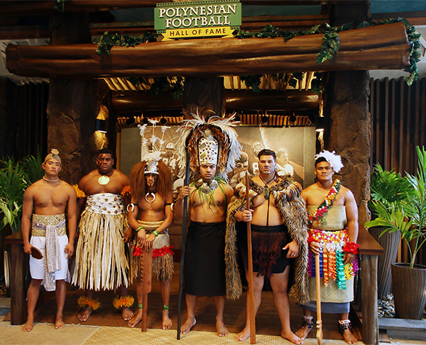The Polynesian Football Hall of Fame at the Polynesian Cultural Center