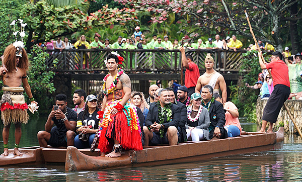 Polynesian Football Hall of Fame Class of 2018 at the Polynesian Cultural Center