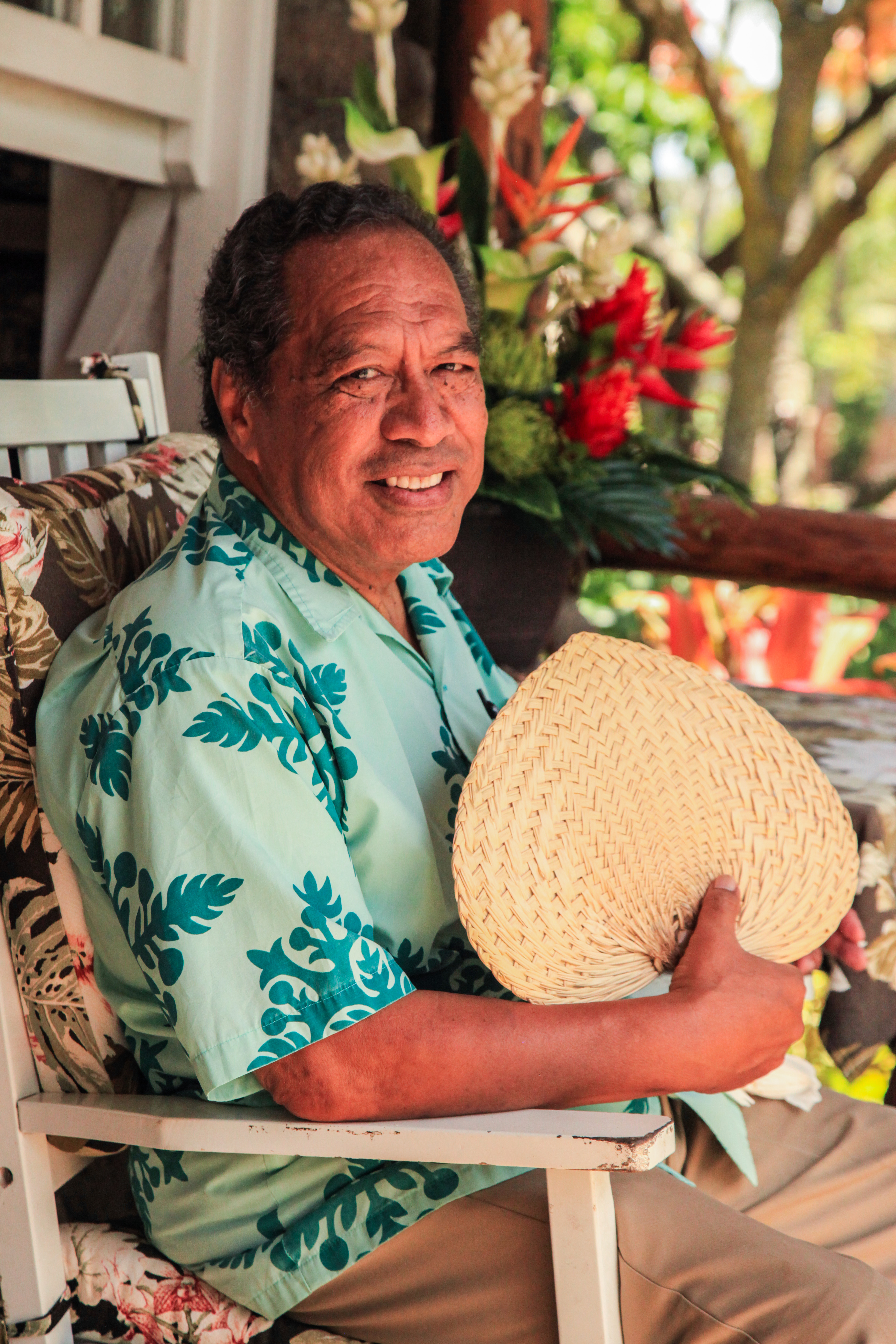 photo of Carl Funoimoana at The Mission Settlement at the Polynesian Cultural Center