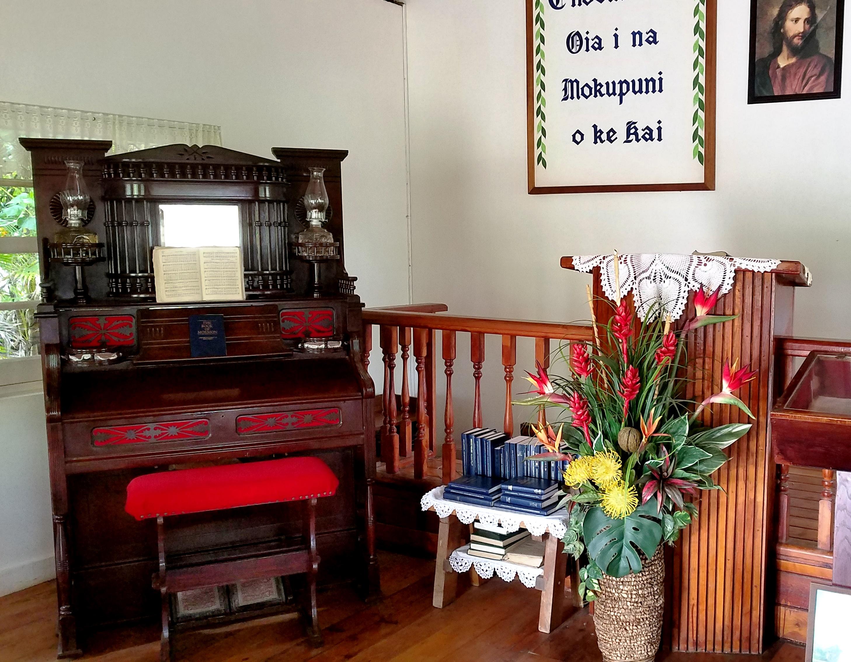 Antique pump organ still plays on at the Polynesian Cultural Center