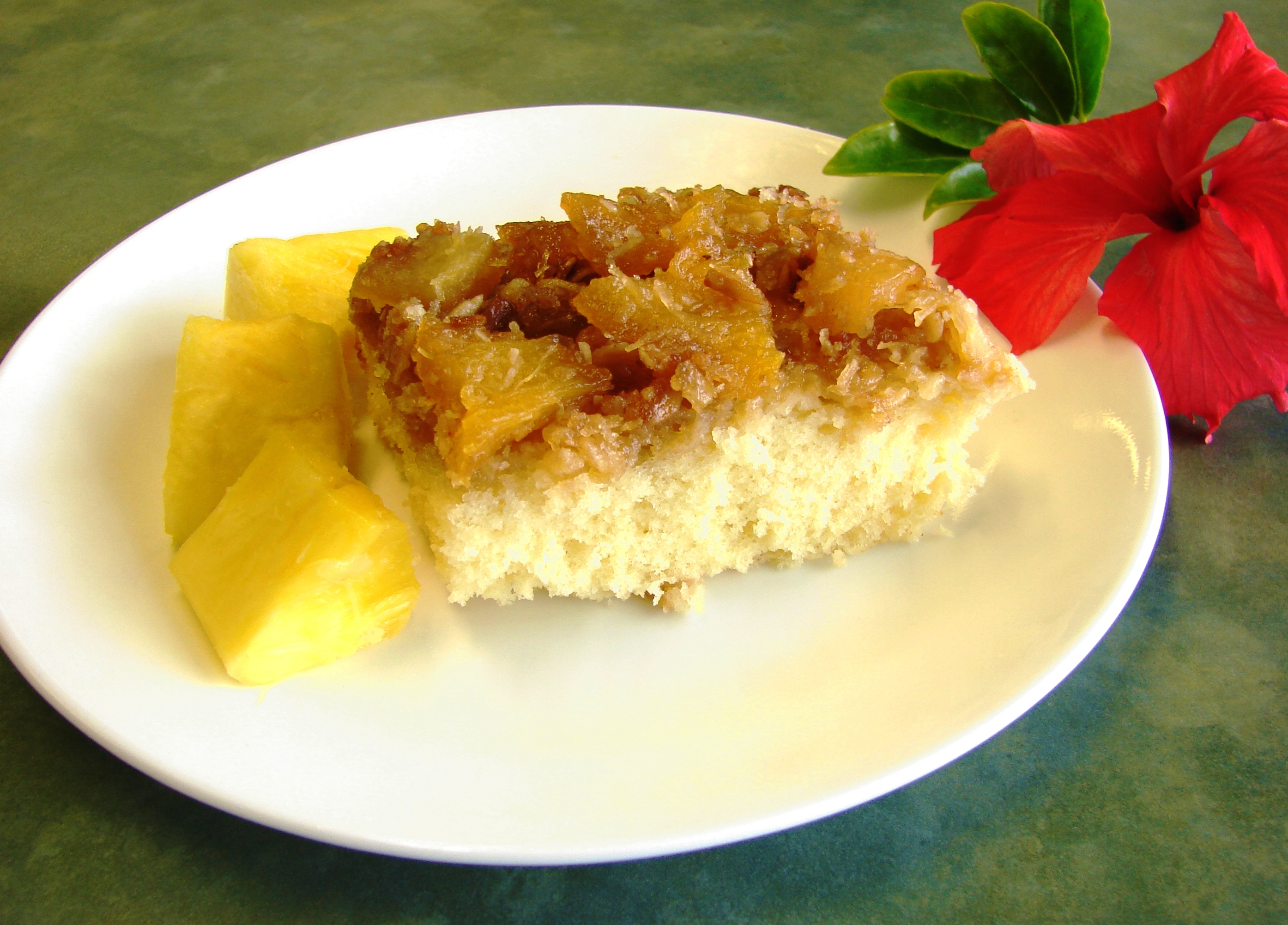 Tropical Pineapple Upside Down Cake from the Polynesian Cultural Center