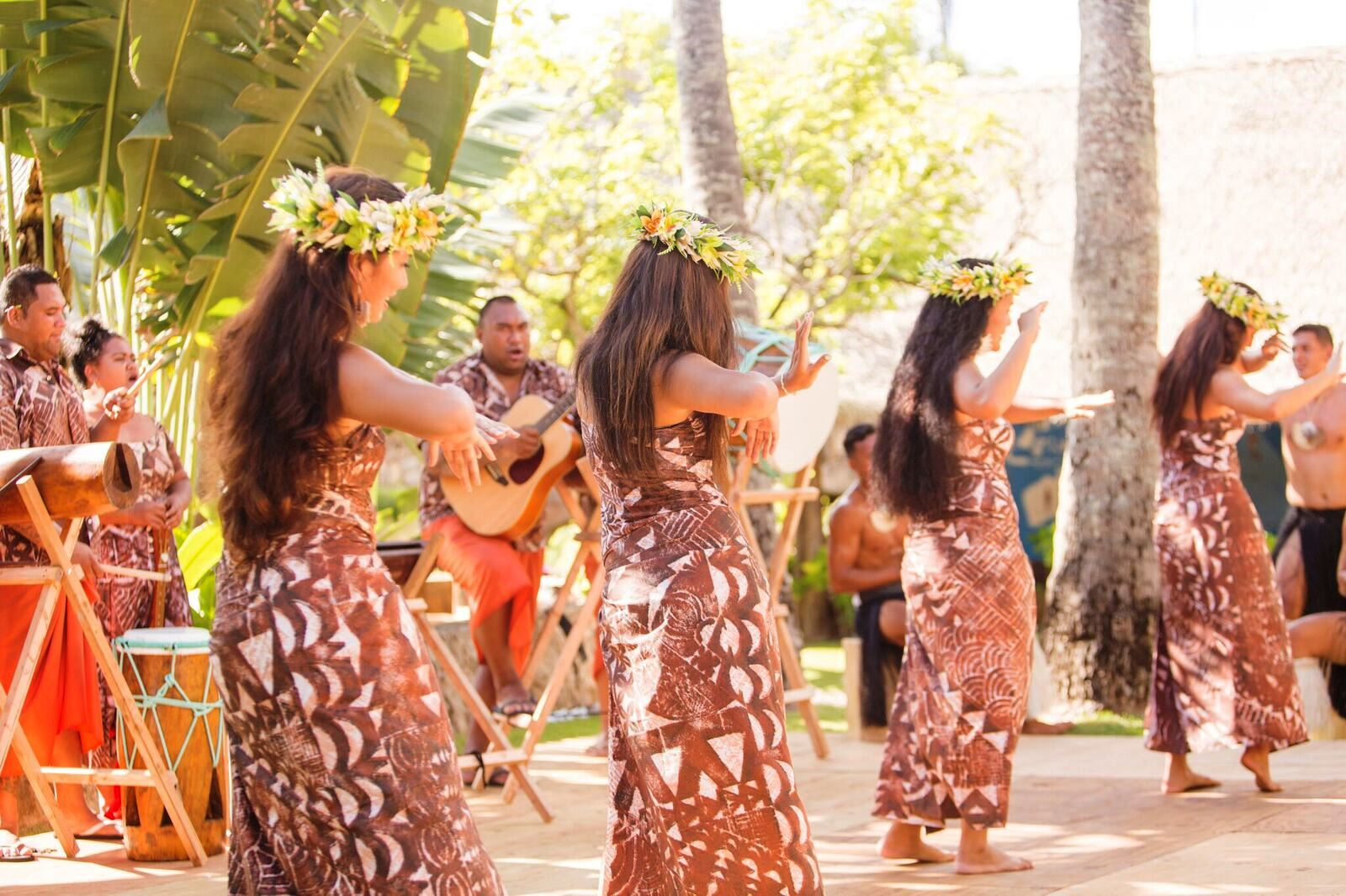 Picture of female dancers performing at the Polynesian Cultural Center in 2017