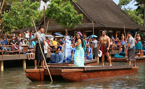 Polynesian Cultural Center's Huki canoe celebration