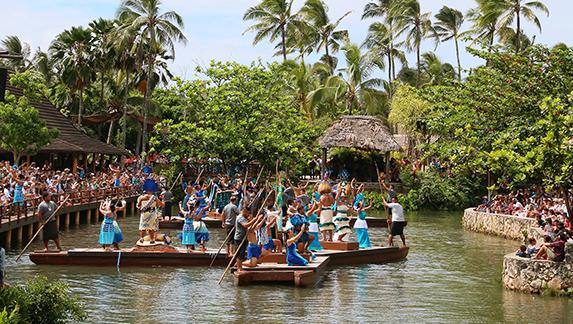Huki canoe celebration at the Polynesian Cultural Center