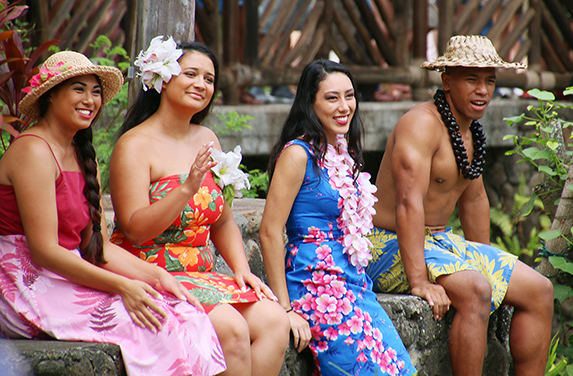 Laie Hukilau performers portrayed during the Polynesian Cultural Center's new Huki production.