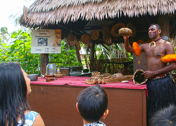 "The coconut is the ""tree of life"" in the Fijian Village at the Polynesian Cultural Center."