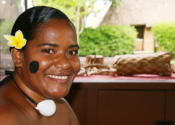 Nunia Yadraca, a Fijian Villager at the Polynesian Cultural Center