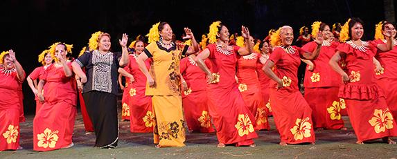 PCC 50th anniversary Samoan dancers