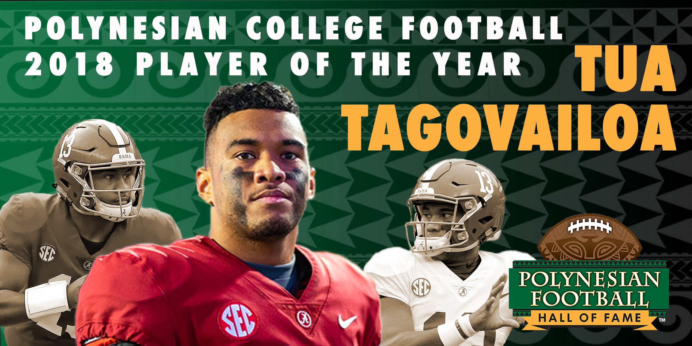 Tua Tagovailoa honors his Polynesian roots at 2018 College Football Player of the Year event