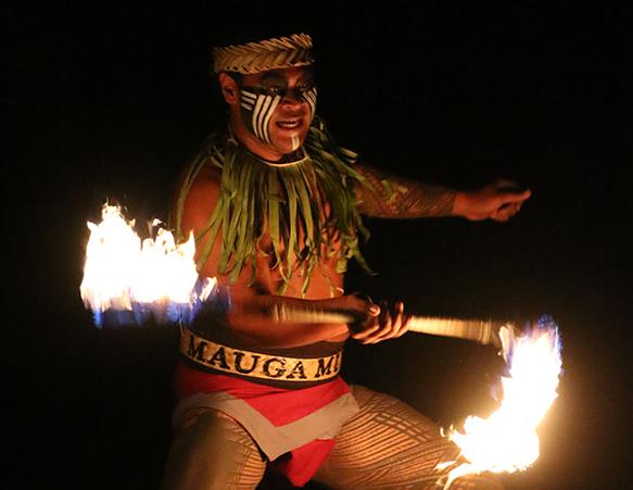 Mikaele Oloa at the Polynesian Cultural Center