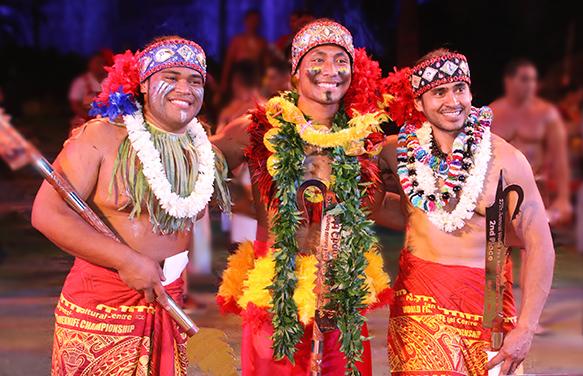 2019 Polynesian Cultural Center World Fireknife Championship winners