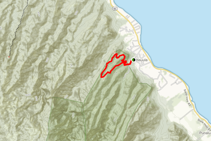 map of the Hau'ula Loop