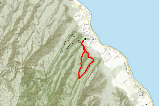 Map of the Maakua Ridge / Papali Trails