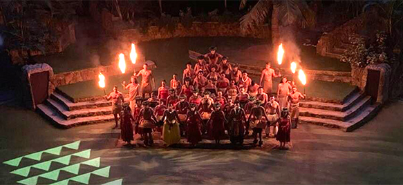 >Polynesian Cultural Center night show cast support Mauna Kea
