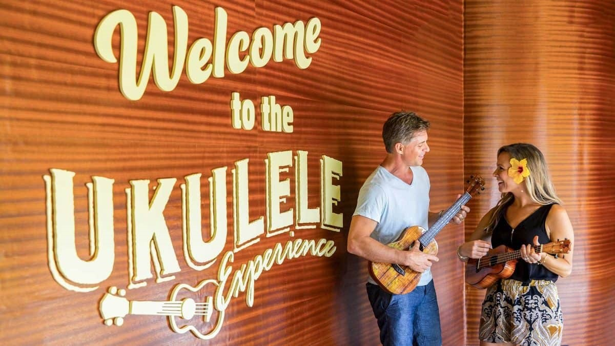 Learn about the construction and style of Hawaiian ukuleles and get a free lesson