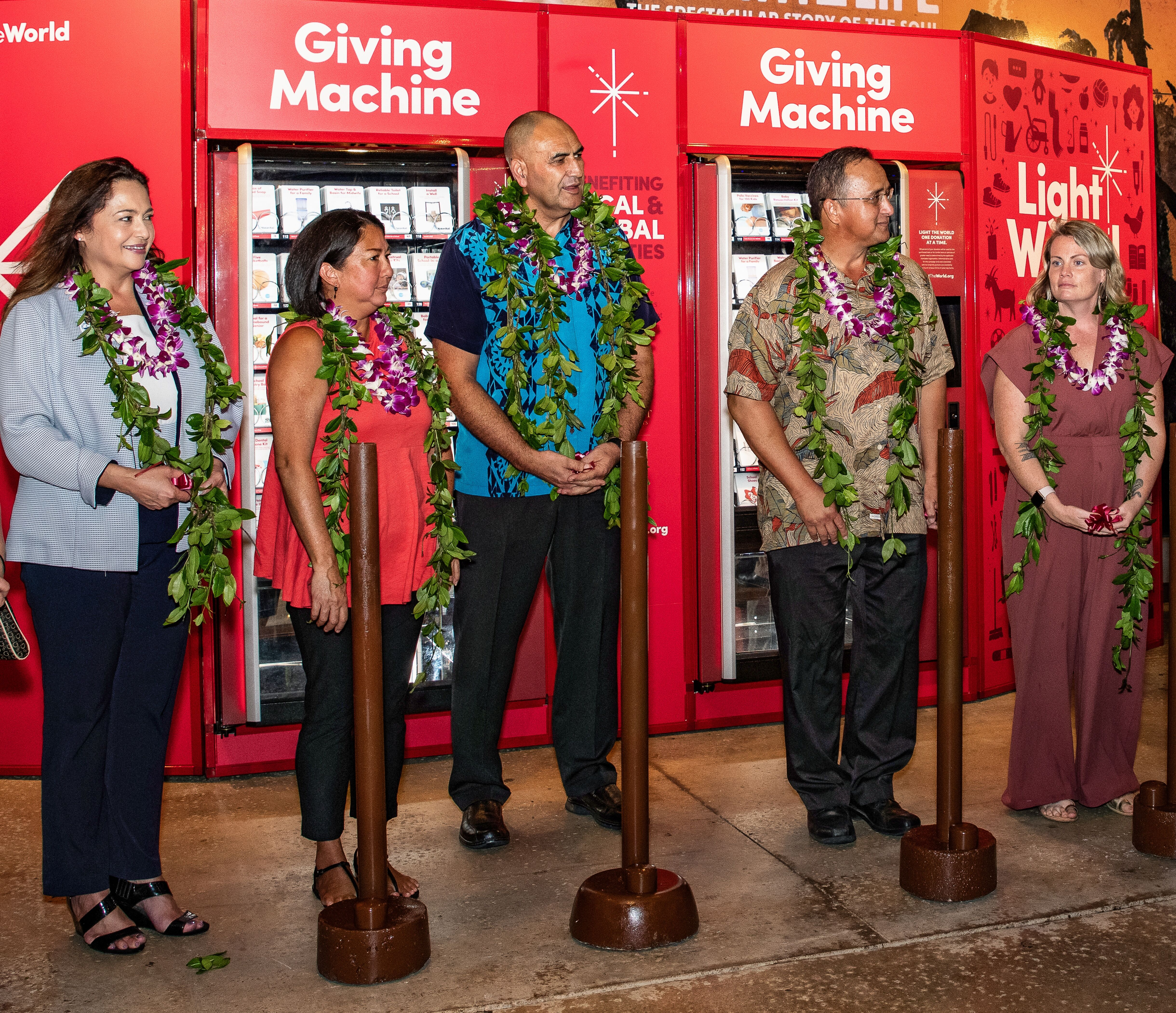 Polynesian Cultural Center hosts holiday 'Giving Machines'