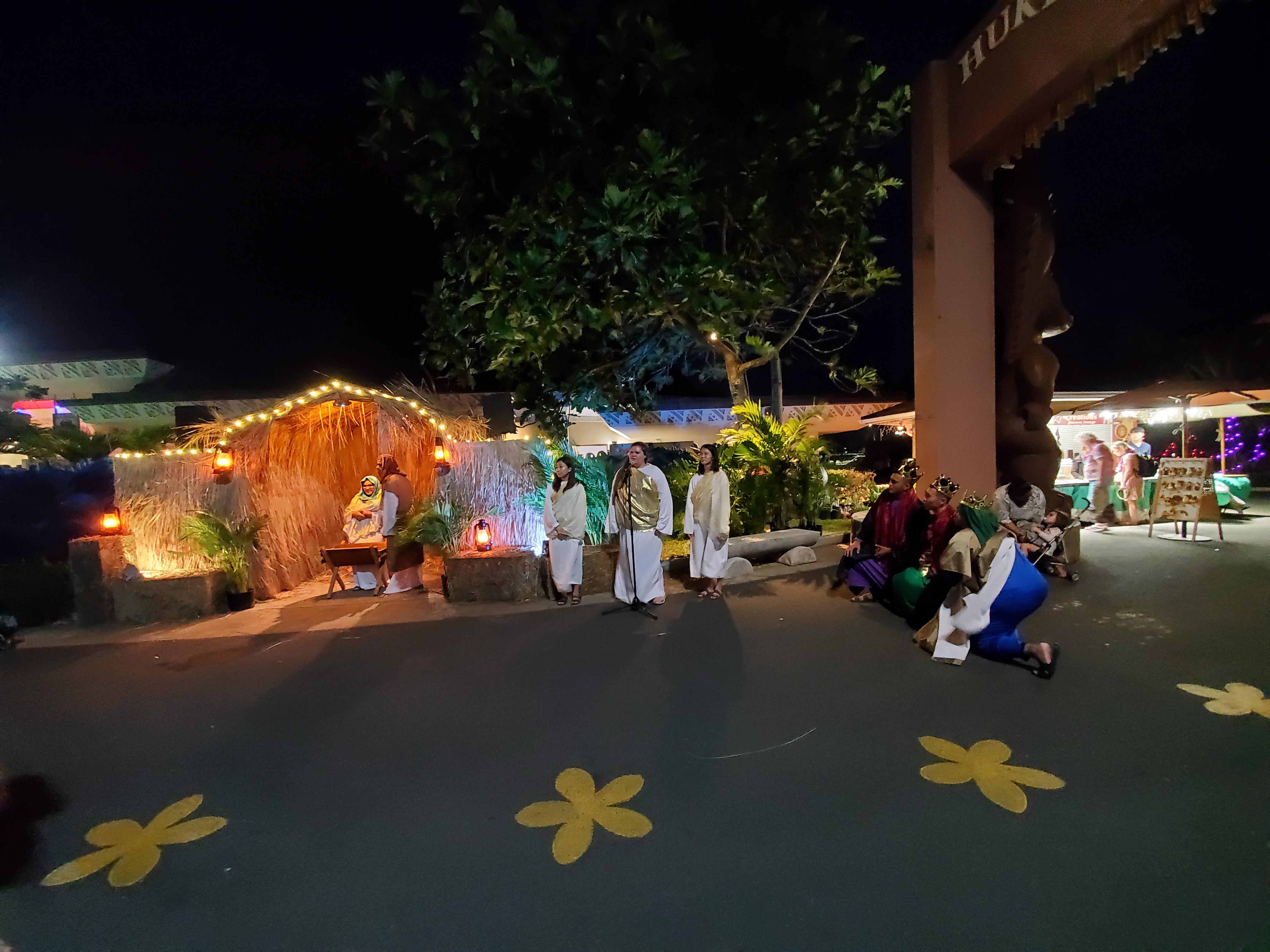 Photograph of Live Nativity at the Hukilau Marketplace, 2020