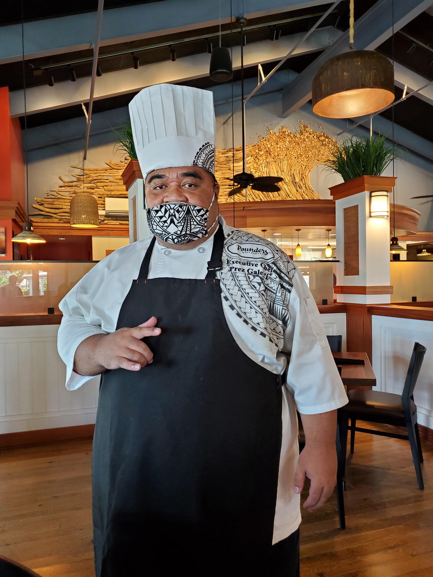 photo of Executive Chef Prez Galeai