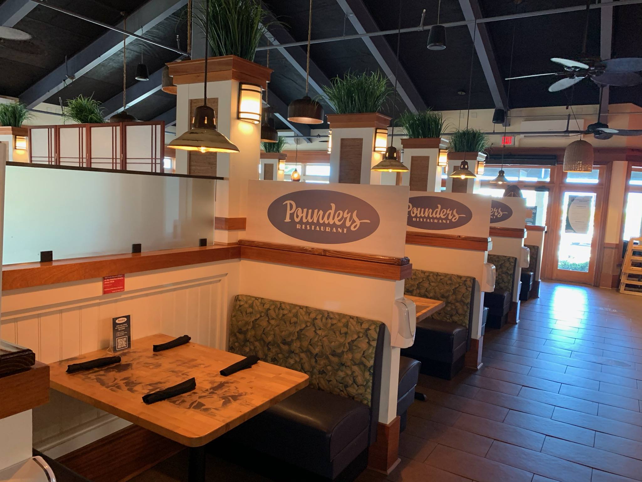 Pounders Restaurant is back open and leading the way