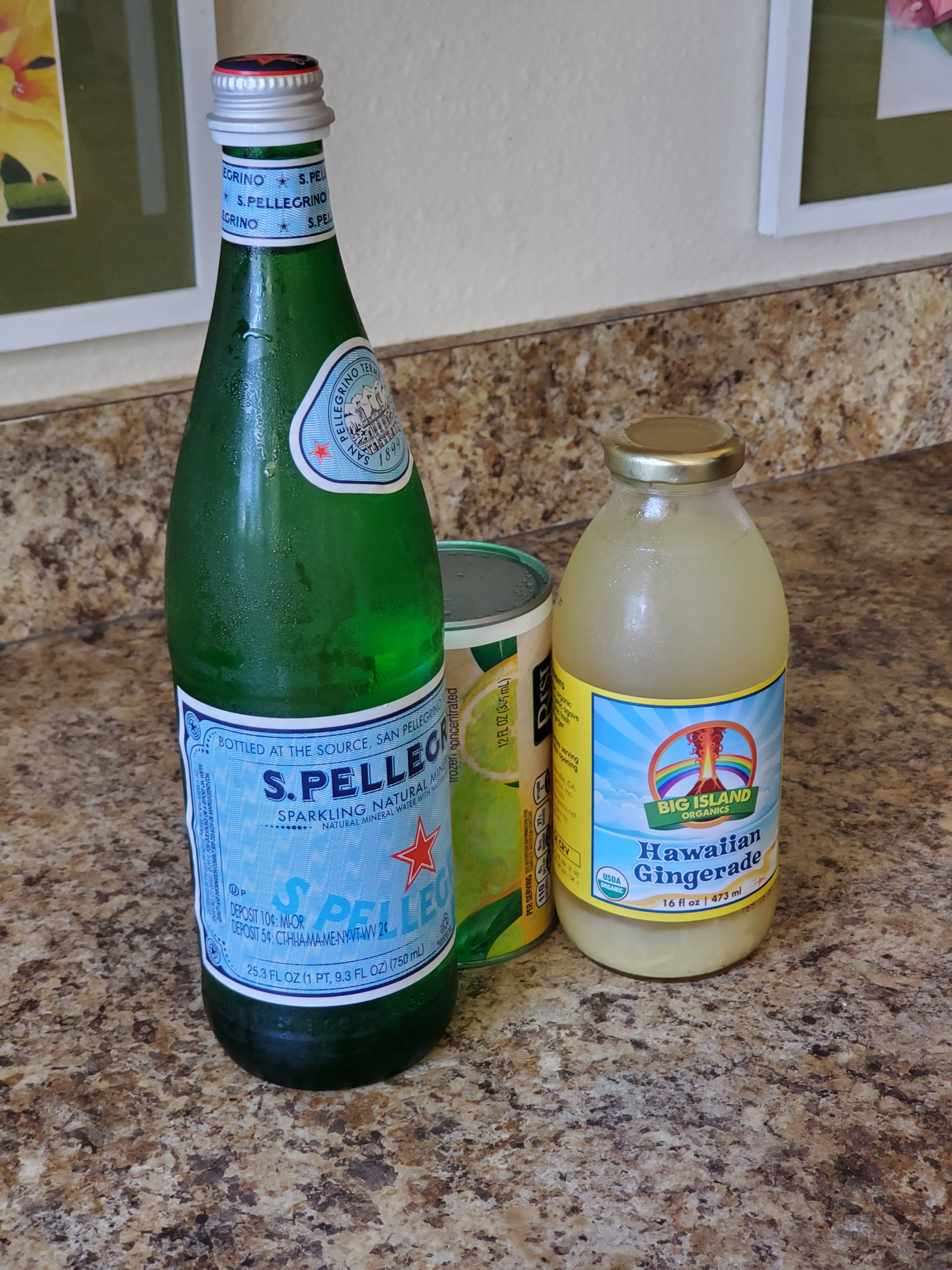 photo of ingredients for simple ginger limeade cooler