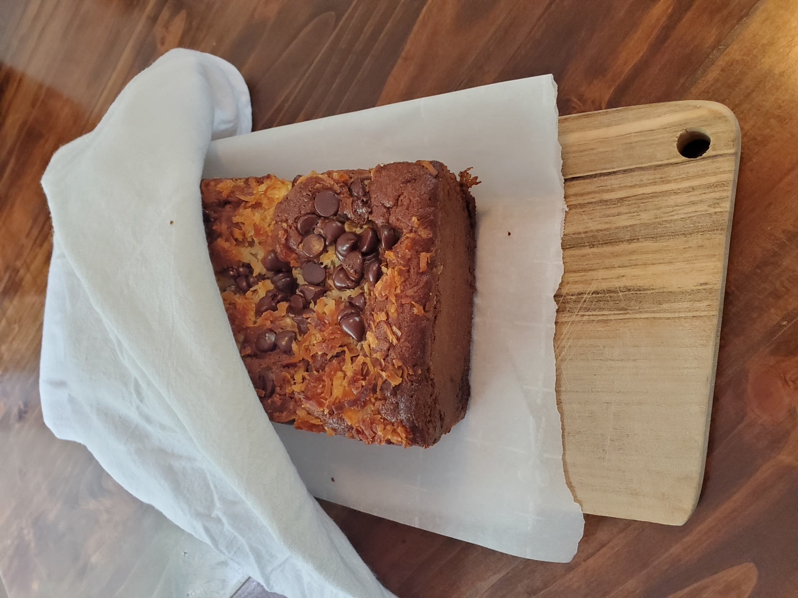 Image showing freshly baked tropical banana bread without glaze