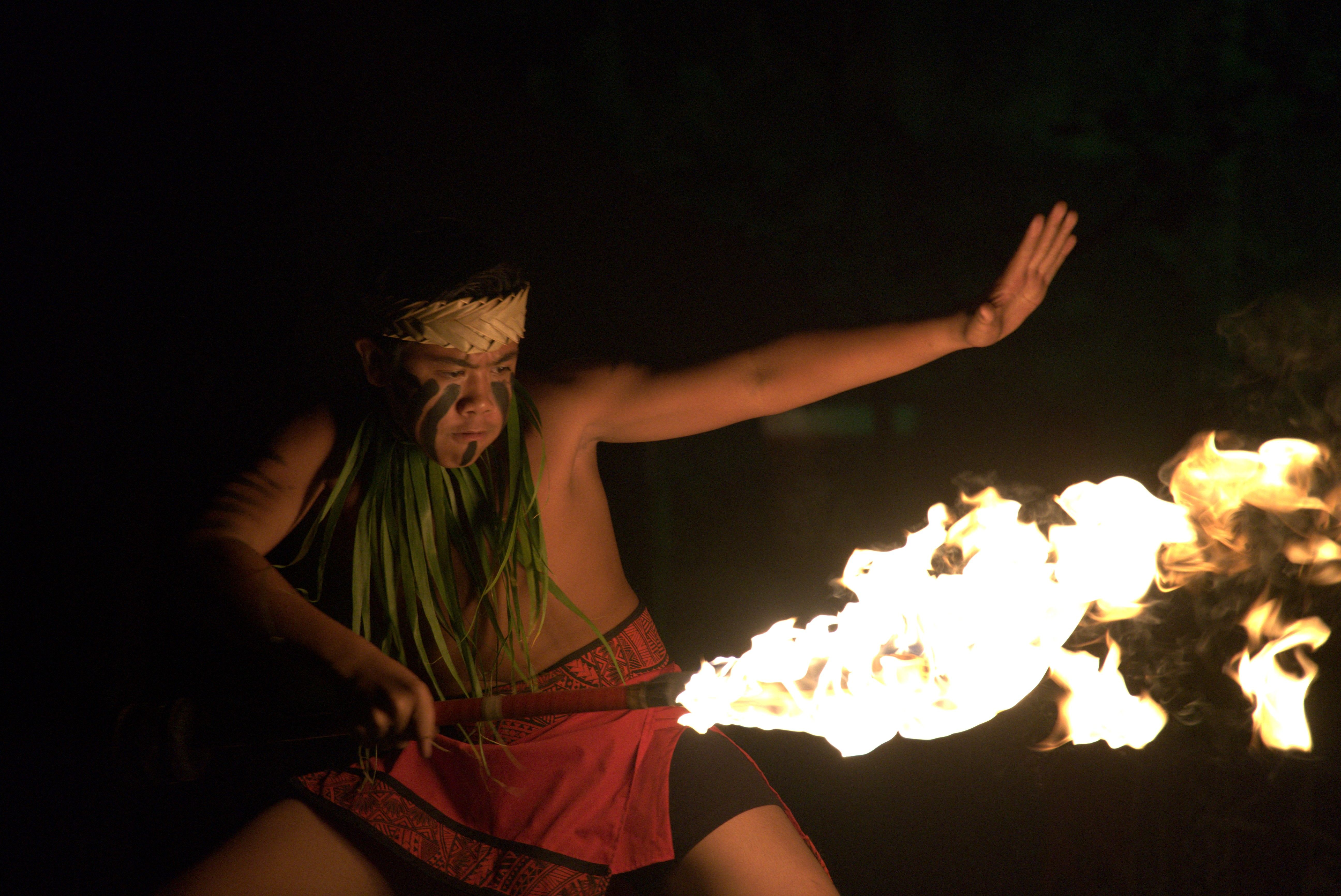 photograph of Matagi Lilo, winner of the Intermediate Section of the 27th Annual World Fireknife Competition