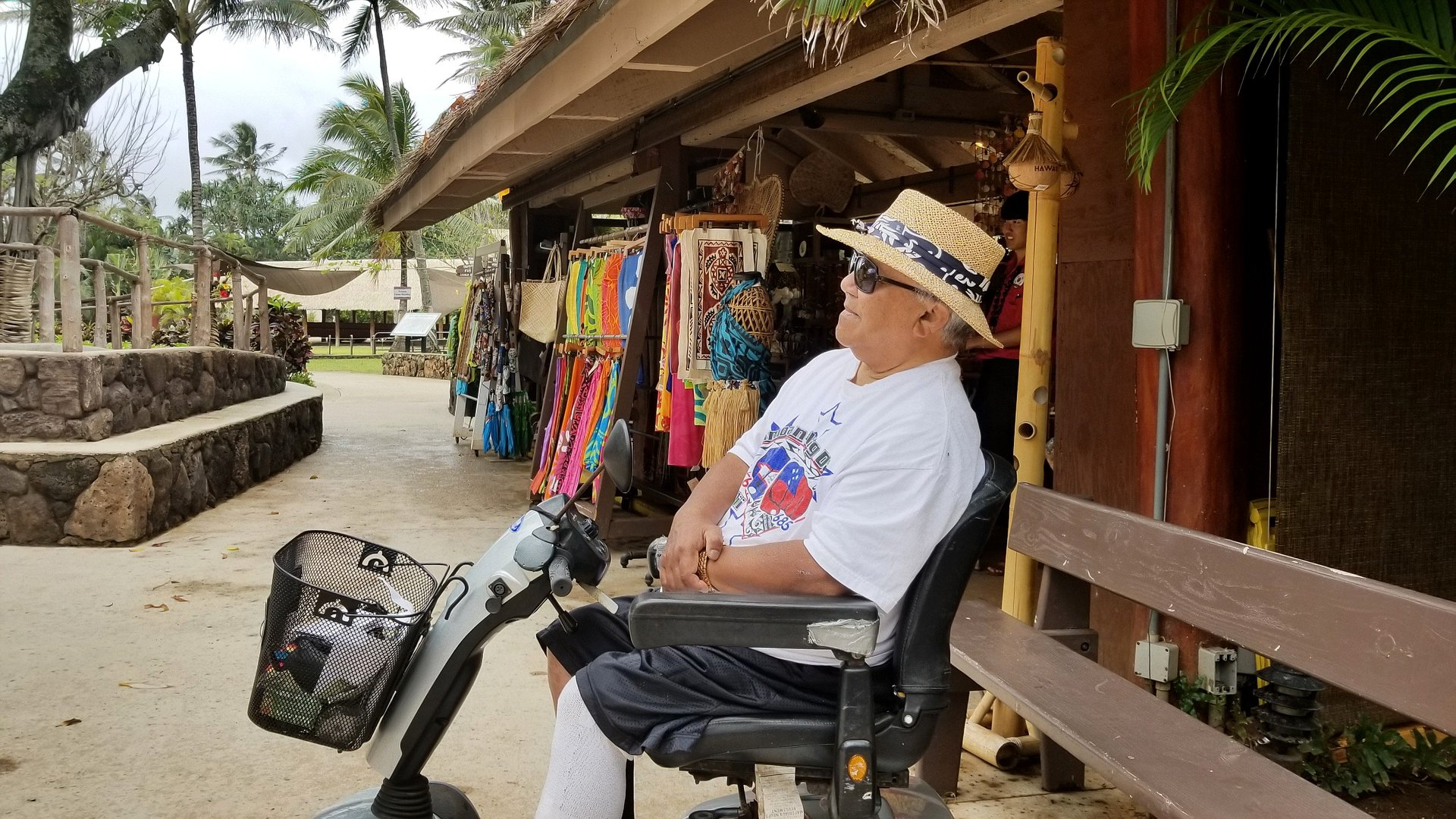 image of Pule Galeai enjoying a day at the Polynesian Cultural Center