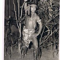 Image of Pulefano Galeai as a youth performing as a Samoan dancer