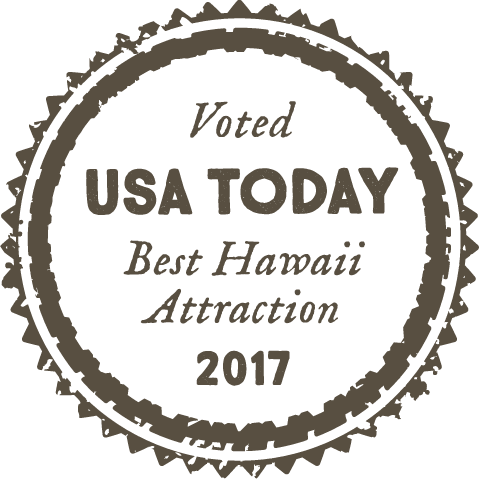 Voted USA Today Best Hawaii attraction 2017