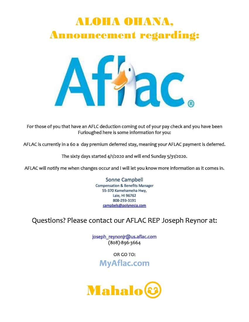 AFLAC Announcement