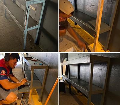 Repair shelves