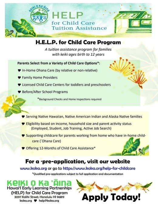 HELP for Child Care Tuition Assistance