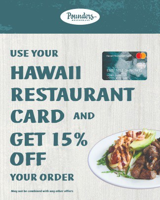 Pounders hawaii rest card ad